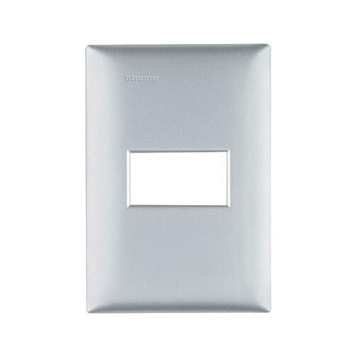 Placa 4x3 Prata