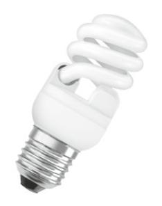 Lampada fluorescente compacta com reator