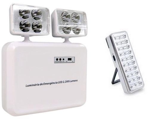 luminaria de emergencia led